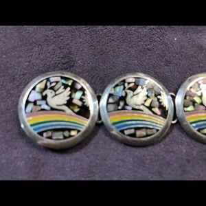 Sterling Silver bracelet rainbow & 🕊